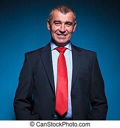 portrait of a senior business man