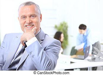Portrait of a senior business man - Portrait of a senior...