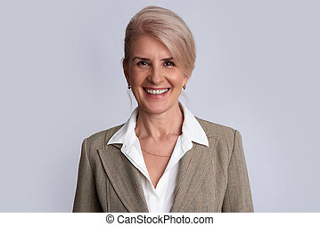 portrait of a senior businesswoman isolated