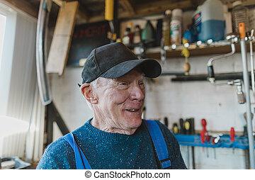 Portrait of a Senior Carpenter