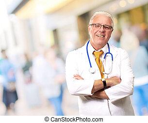 Portrait Of A Senior Man Doctor