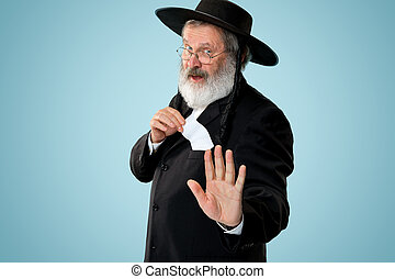 Portrait of a senior orthodox Hasdim Jewish man
