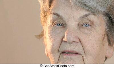 Portrait of a senior smiling woman