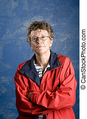 Portrait of a senior woman sailor