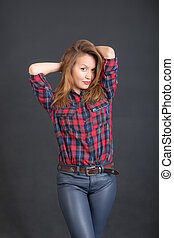 girl in a shirt