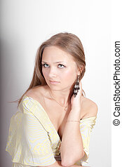 portrait of a sensual girl