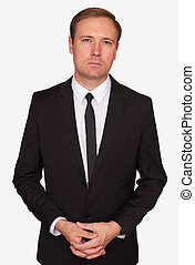 Portrait of a serious businessman. Isolated