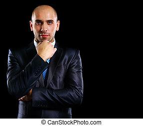 Portrait of a serious businessman