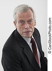 Portrait of a serious senior man