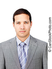 Portrait of a serious young businessman