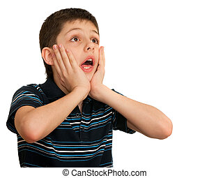 Portrait of a shocked kid