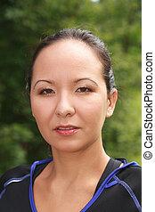 Portrait of a Siberian woman