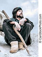 Portrait of a Sitting Man In Turban