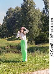 girl in a summer