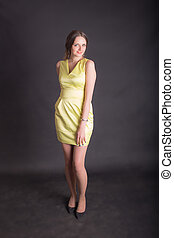 Portrait of a slender girl