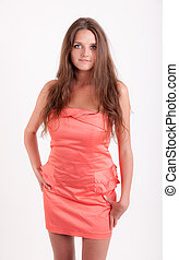 girl in a bright dress