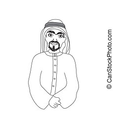 portrait of a smiling arab