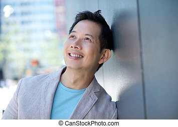 Portrait of a smiling asian man