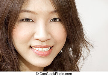 Portrait of a smiling asian