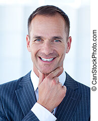 Portrait of a smiling attractive businessman