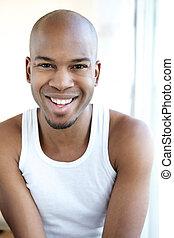 Portrait of a smiling black man