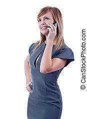 Portrait of a smiling blonde businesswoman