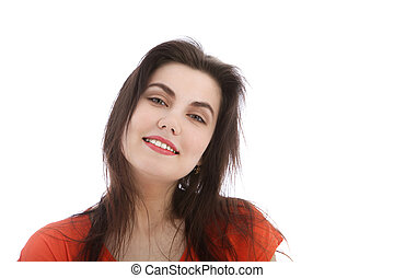 Portrait of a smiling brunette
