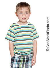 Portrait of a smiling little boy