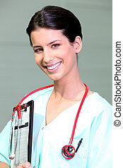 Portrait of a smiling nurse