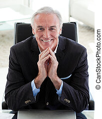 Portrait of a smiling senior businessman