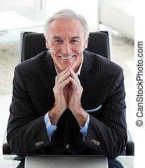 Portrait of a smiling senior businessman