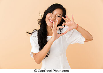 Portrait of a smiling young asian woman