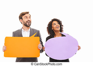 Portrait of a smiling young business couple