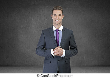 Portrait of a smiling young business man
