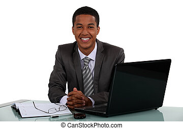 Portrait of a smiling young businessman