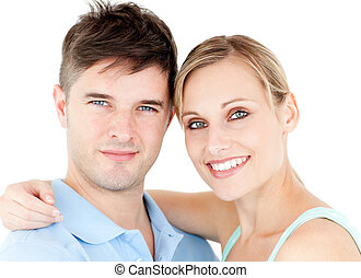 Portrait of a smiling young couple