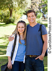 Portrait of a student couple