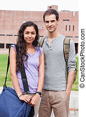 Portrait of a student couple posing