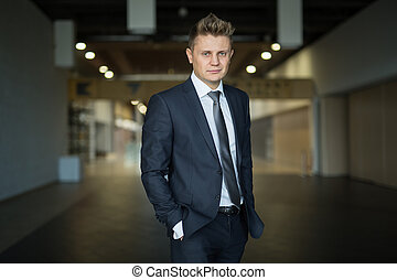 Portrait of a stylish businessman middle-aged