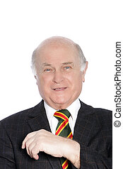 Portrait of a stylish elderly gentleman - Head and shoulders...