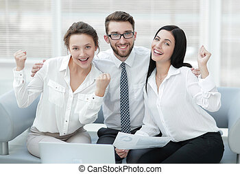 portrait of a successful professional business team