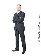 portrait of a successful young businessman.isolated on white