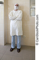 Portrait of a surgeon in operative room