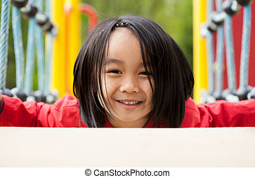 Portrait of a sweet Asian girl