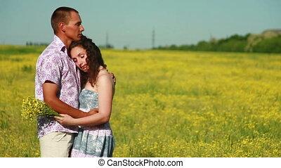 Portrait of a sweet couple
