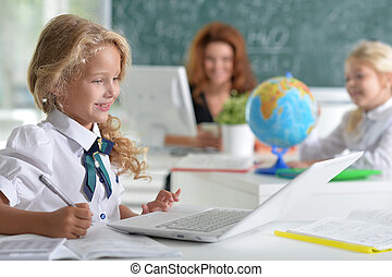 teacher with two girls