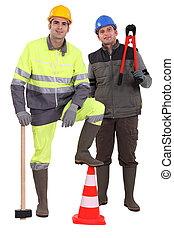 Portrait of a team of construction workers