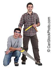 Portrait of a team of tradesmen