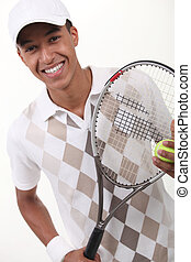 portrait of a teenager with racket