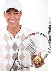 Portrait of a tennis player